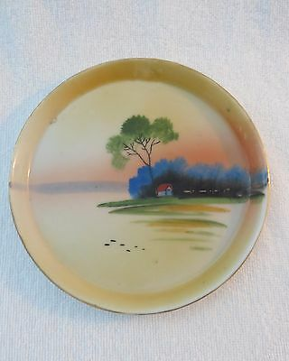 HALF PRICE SALE-Japanese Hand Painted Lusterware Tip Tray