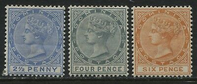 Dominica QV 1886-88 2 1/2d to 6d mint o.g.
