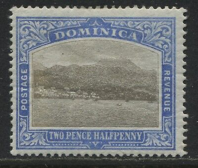 Dominica 1907 2 1/2d on chalky paper mint o.g.