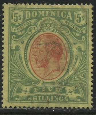 Dominica KGV 1914 5/ used
