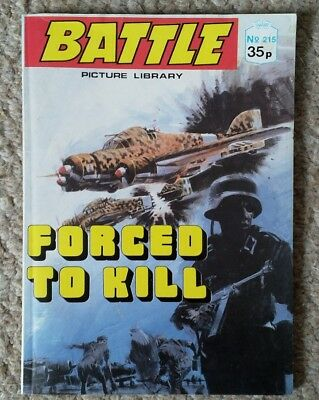 """Battle picture library comics #215 """"Forced to kill"""""""