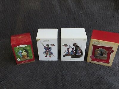 """Wizard of Oz-Set of 4 """"Witches Castle"""" Themed Hallmark Keepsake Ornaments"""