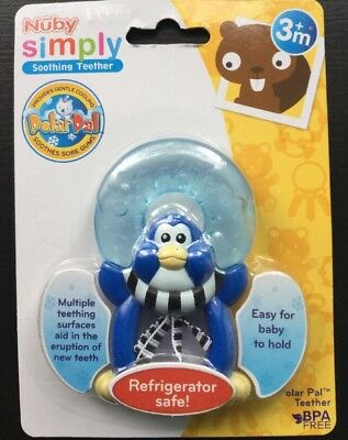 Nuby Simply Soothing Teether - Baby / Toddler Ice Gel Animal Design Teething Toy