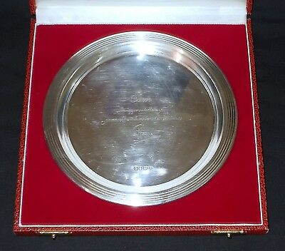 Solid Silver CARD TRAY / SALVER 161 g  by Francis Howard Sheffield - 1990
