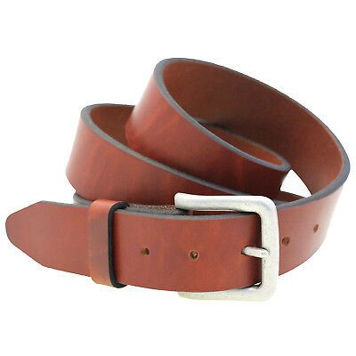 """1 1/2"""" Light Brown Show Harness Leather Belt Square Buckle Returned Size 38"""