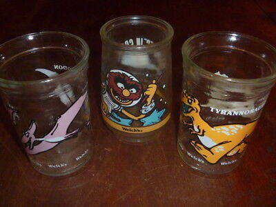 """Welch's Jelly Jars Muppets In space """"Animal"""" and Dino's"""