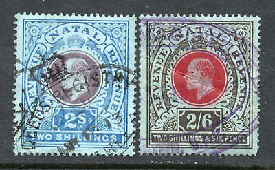 NATAL  KEVII  2/- and 2/6d  REVENUE STAMPS