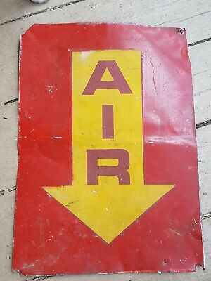 Early Tin Sign (Air) Red & Mustard