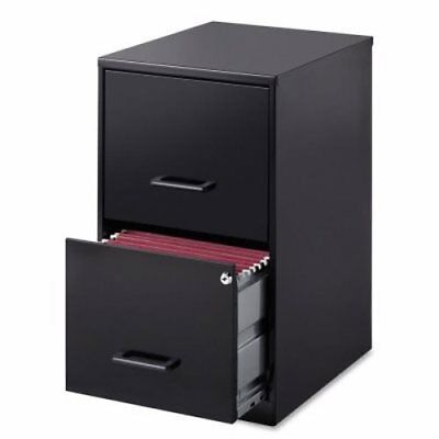 Lorell 14341 Steel File Cabinet, 2-Drawer, Black (LLR14341)