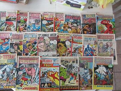 Huge Lot 50 + Bronze Age Marvel Comics Ironman Hulk Capt. America Avengers