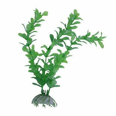 Artificial Plant Water Green Plastic Aquarium Decoration 20cm S1T7