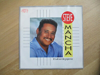 "Vinyl 12"",  Steve Mancha–It's All Over The Grapevine, EMI ‎– 12DB 9138, 1986"