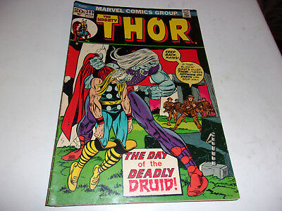 The Mighty Thor # 209--Deadly Druid--Gerry Coinway,John Buscema--1973--Fine