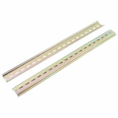 2pcs Slotted Metal 35mm DIN Mounting Rail 40cm Long for AC Contactor C9V2