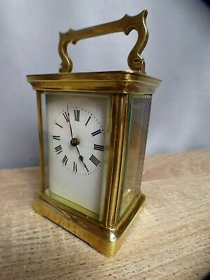 A Good Clean Victorian Duverdrey & Bloquel Carriage Clock With Key  * Serviced *