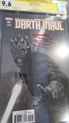 Darth Maul Star Wars #1 CGC 9.6 B&W Variant Signed by Ray Park