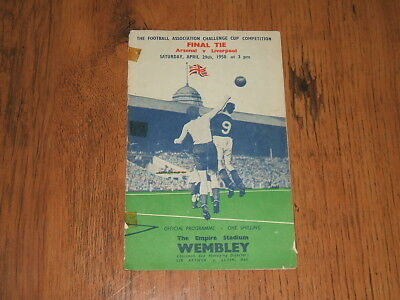 Arsenal v Liverpool - FA Cup Final,Wembley 29/4/1950 programme;Compton,Mercer...