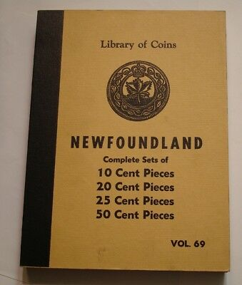SCARCE Library of Coins Vol 69 Album NEWFOUNDLAND Sets 10, 20, 25 & 50 Cents
