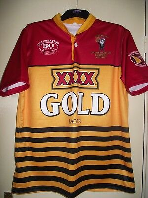 queensland goldies rugby club celebrating 30 years 1983-2012 rugby shirt mint