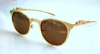 Beautiful Sunglasses gold plated Panther seria #2 oriinal factory packaging New