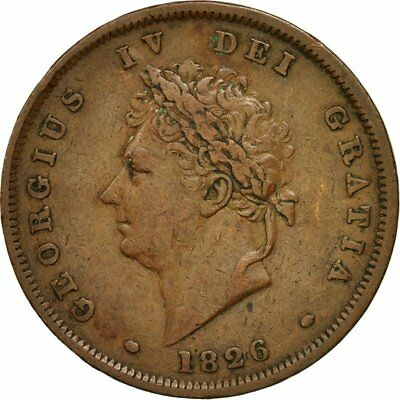 [#473622] Coin, Great Britain, George IV, Penny, 1826, EF(40-45), Copper, KM:693