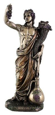"13"" Dionysus Greek God of Wine and Festivity Figurine Roman Sculpture Statue"