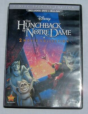 Disney The Hunchback of Notre Dame 1 & 2 Blu-ray DVD Combo Pack 3-Disc Set 2013