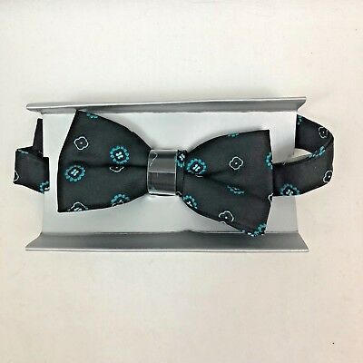 NEW in Box JOSEPH & FEISS Boys Bow Tie BLACK TEAL M22388904 Ships Free