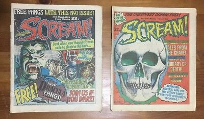 Scream Comic, Fleetway - No: 01, 03, 04, 06, 08, 09, 10, 11, 12, 13 & Specials