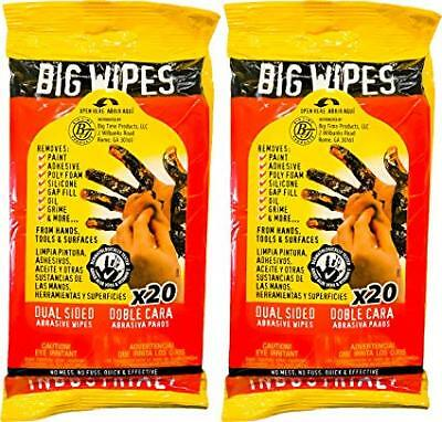 Big Wipes Heavy Duty Textured Scrubbing Wipes, 40 ct. (2 Travel Packs)