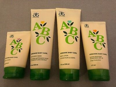 Arbonne ABC Baby Care Set (sunscreen, nappy cream, hair&body wash, body lotion)