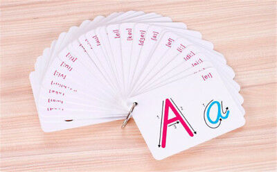 26 Letter English Flash Card  Early Development Learning Educational Toy UK