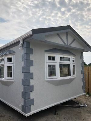 mobile home 48 x 12 single unit roughcast ready immediately off site