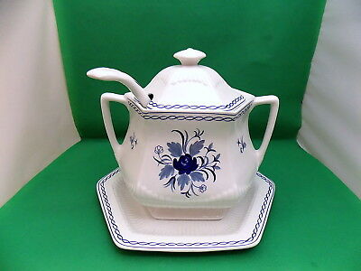 Adams Baltic Soup Tureen with Ladle and Underplate