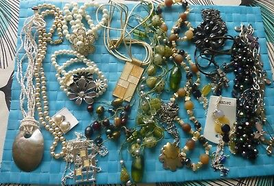 Mixed Job Lot Of Bracelets & Necklaces, Lots Of Pearls