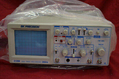 BK Precision 2120B Dual Trace 30MHz Oscilloscope * BRAND NEW NEVER USED