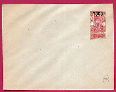 Entier Aof 10C Surcharge Togo Lettre Cover