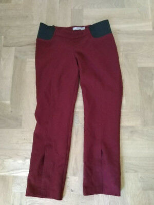 Asos size 8 burgandy maternity trousers, 3/4 length. Worn twice only.