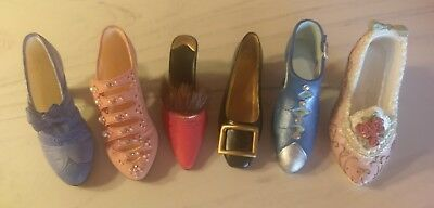 Lot of 6 Just the Right Shoe Mini Shoes!