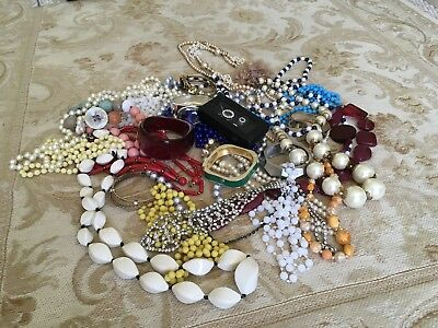 Mixed Lot Of Vintage ,modern Costume Jewellery .1950s,60s,70s Onwards