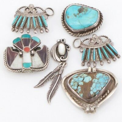 VTG Sterling Silver - Lot of 6 NAVAJO Assorted Jewelry Pieces NOT SCRAP - 24g
