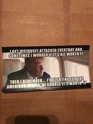 Trump Viciously Attacked Everyday For American People Sticker.  Trump 2020
