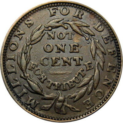 1837 Millions For Defense Hard Times Token Scarce Variety HT-50 Low 35