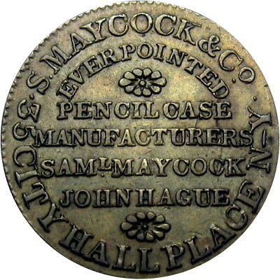 1837 New York City Hard Times Token Maycock Mechanical Pencil HT-290 Low 126