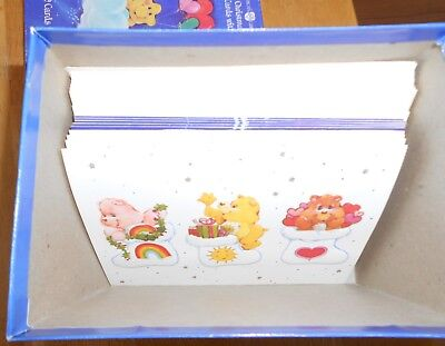 1984 American Greetings Care Bear Christmas Card Assortment 13 Unused Cards +Box