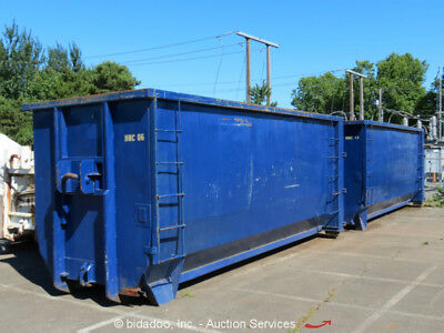 Lot (4) Capital Industries 40-Cubic Yard Roll-Off Garbage Waste Demo Container
