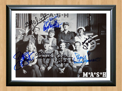 Mash Cast TV Series Show Signed Autographed A4 Photo Poster Memorabilia dvd cd