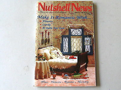 #2093 February 1991  Nutshell News Minatures Magazine For Creators & Collectors