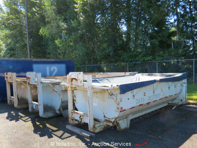 Lot (6) Capital Industries 20-Cubic Yard Roll-Off Garbage Waste Demo Container