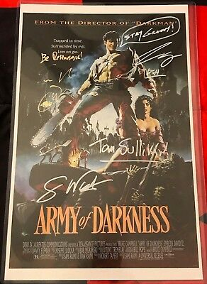Army of Darkness Signed by Bruce Campbell, Sam Raimi, Greg Nicotero & MORE